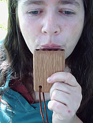 kate plays the Jorvik panpipe